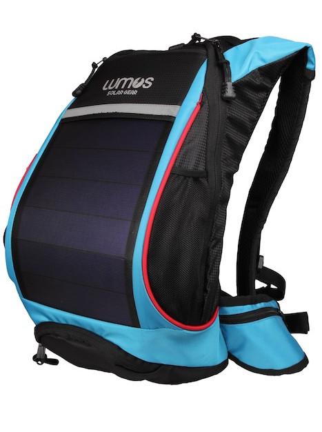 Thrillseeker Solar Hydration bag Blue Front 45