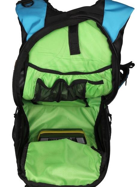 Thrillseeker Solar Hydration bag Blue Open
