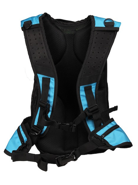 Thrillseeker Solar Hydration bag Blue back
