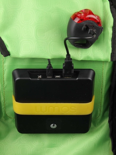 Thrillseeker Solar Hydration bag  Cycle light charging