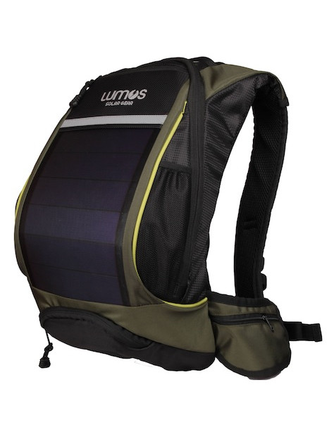 Thrillseeker Solar Hydration bag  Olive Green Front 45