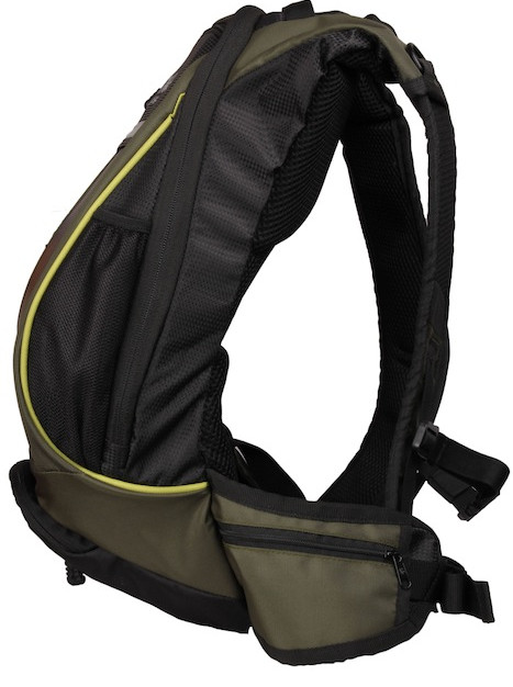 Thrillseeker Solar Hydration bag  Olive Green Side