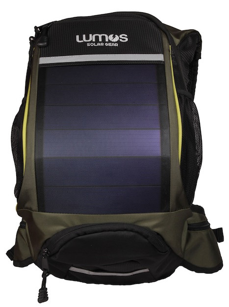 Thrillseeker Solar Hydration bag  Olive Green front