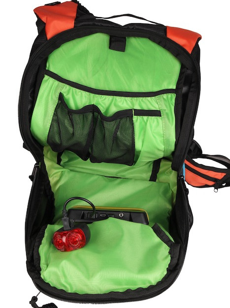 Thrillseeker Solar Hydration bag  Orange Open view