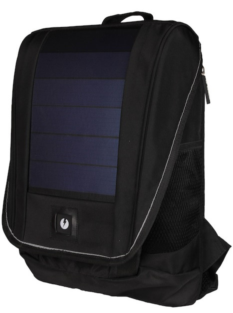Unplug Solar Backpack Black Front 45