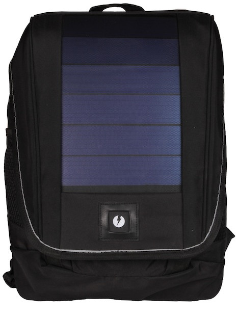 Unplug Solar Backpack Black Front