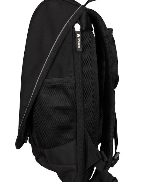 Unplug Solar Backpack Black Side